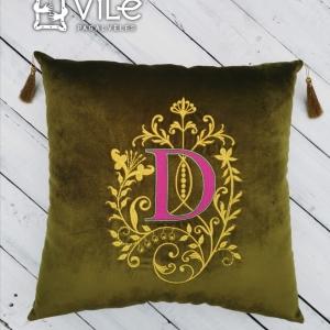 """Dekoratyvinė pagalvėlė namams """"D"""""""