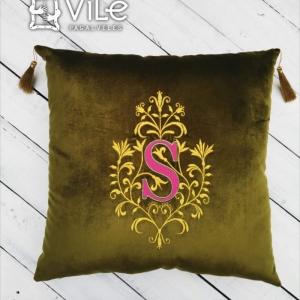 """Dekoratyvinė pagalvėlė namams """"S"""""""