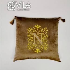 """Dekoratyvinė pagalvė """"N"""""""